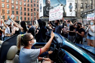 מחאה על אי שוויון גזעי בניו יורק, ארה