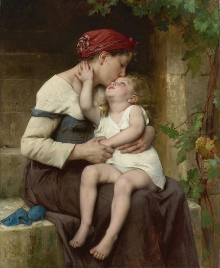 Мать с ребенком (Mother with Child). (1894). Автор: Leon Bazile Perrault.